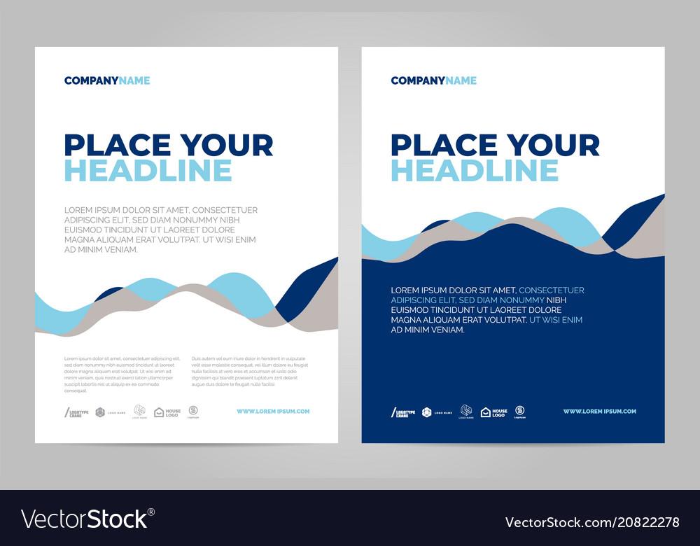 Brochure layout template design vector image