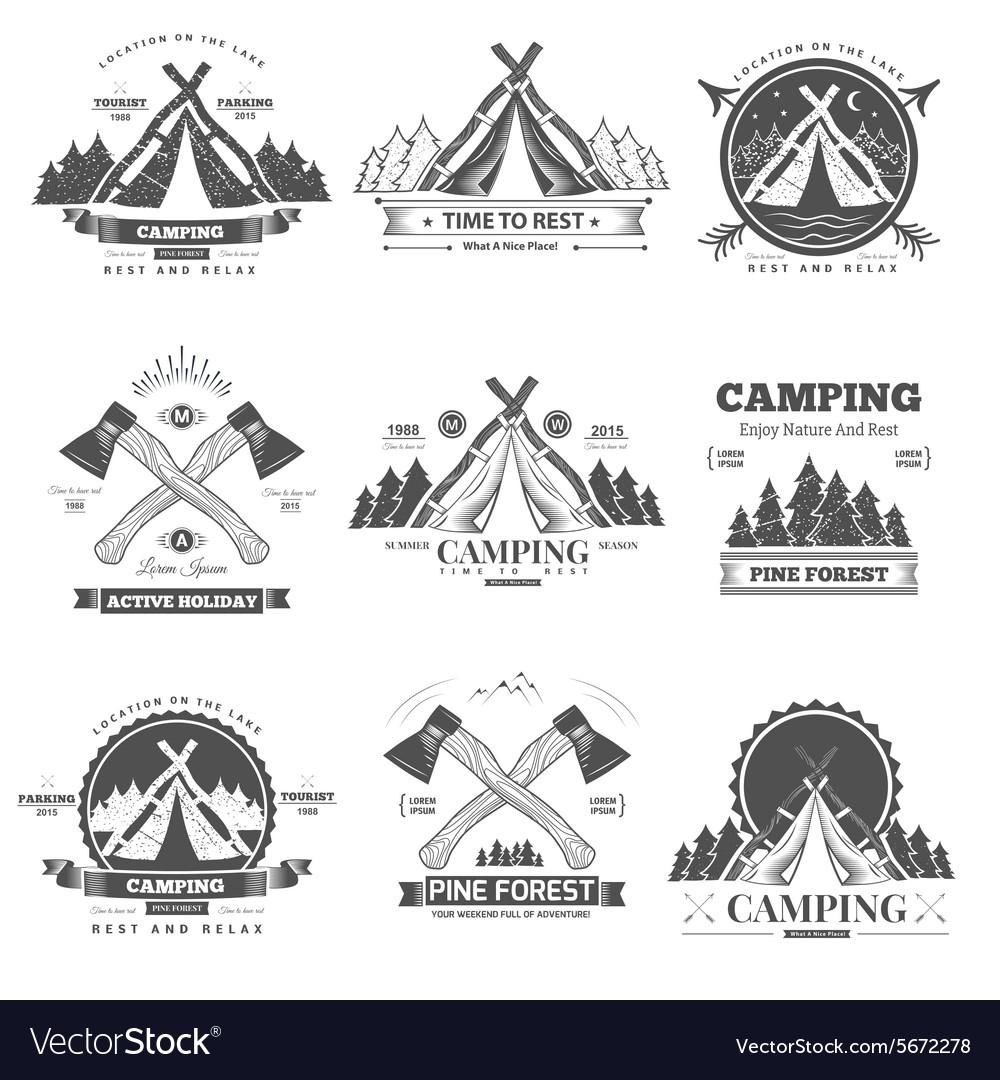 Camping retro logo