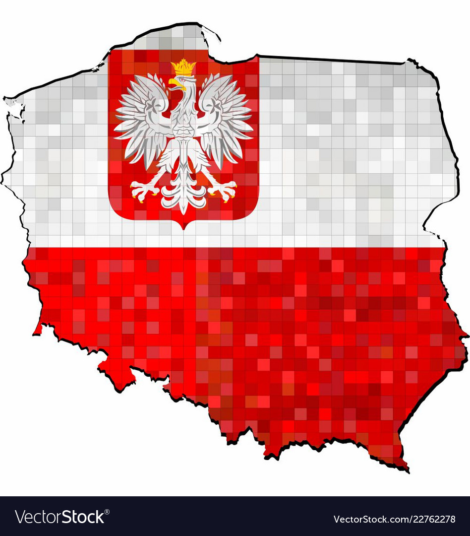 Poland Flag Map Grunge poland map with flag inside Royalty Free Vector Image