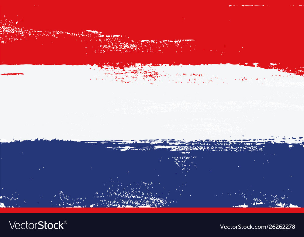 Netherlands colorful brush strokes flag
