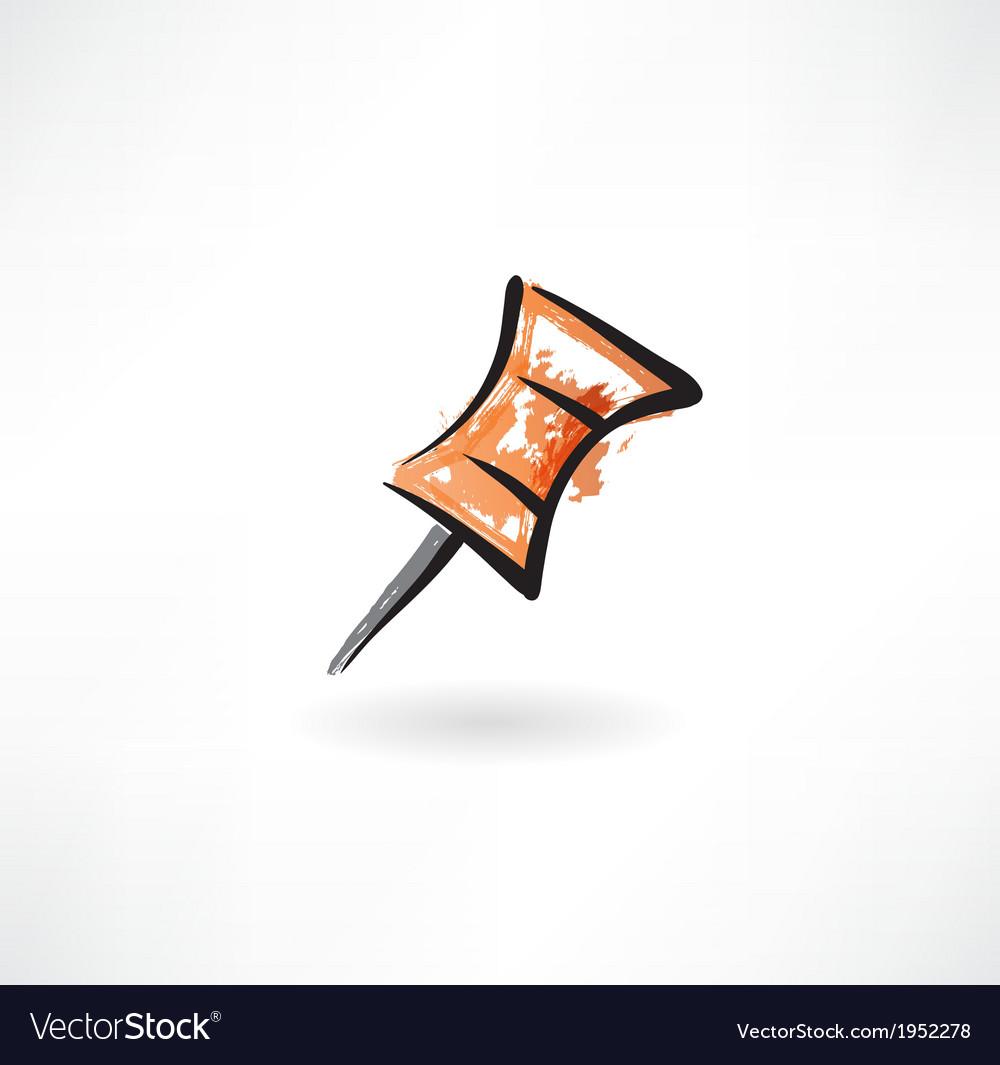 Pin grunge icon