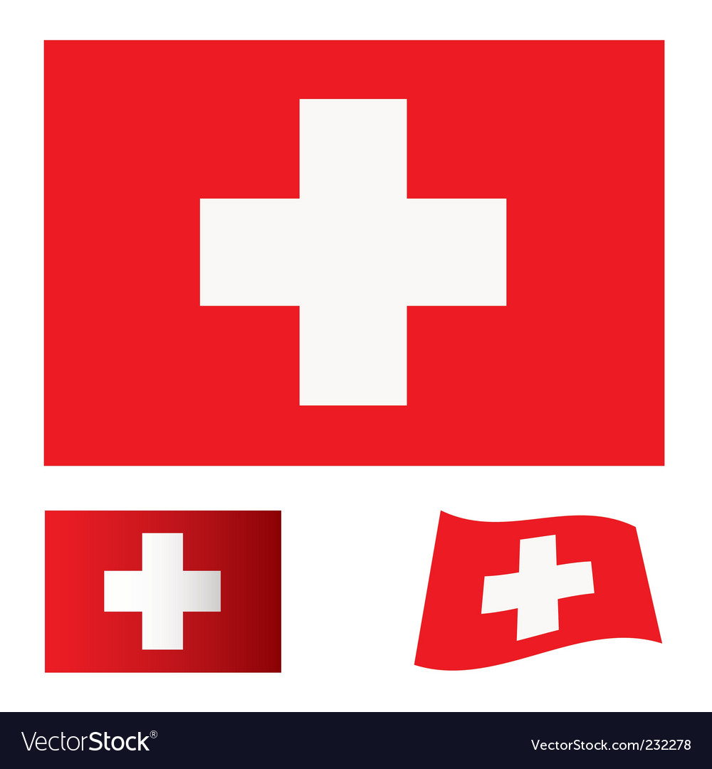 Switzerland flag set
