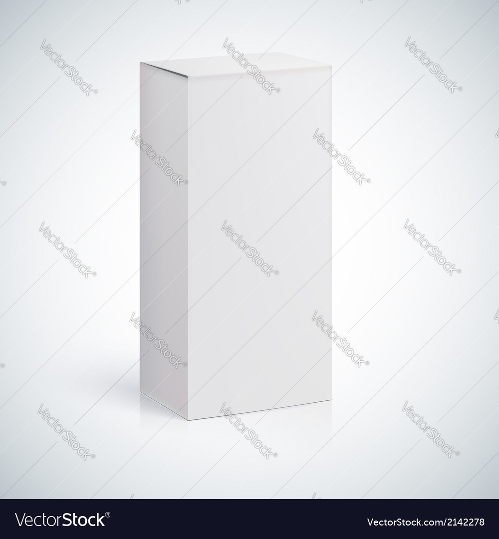 White blank box with empty space vector image