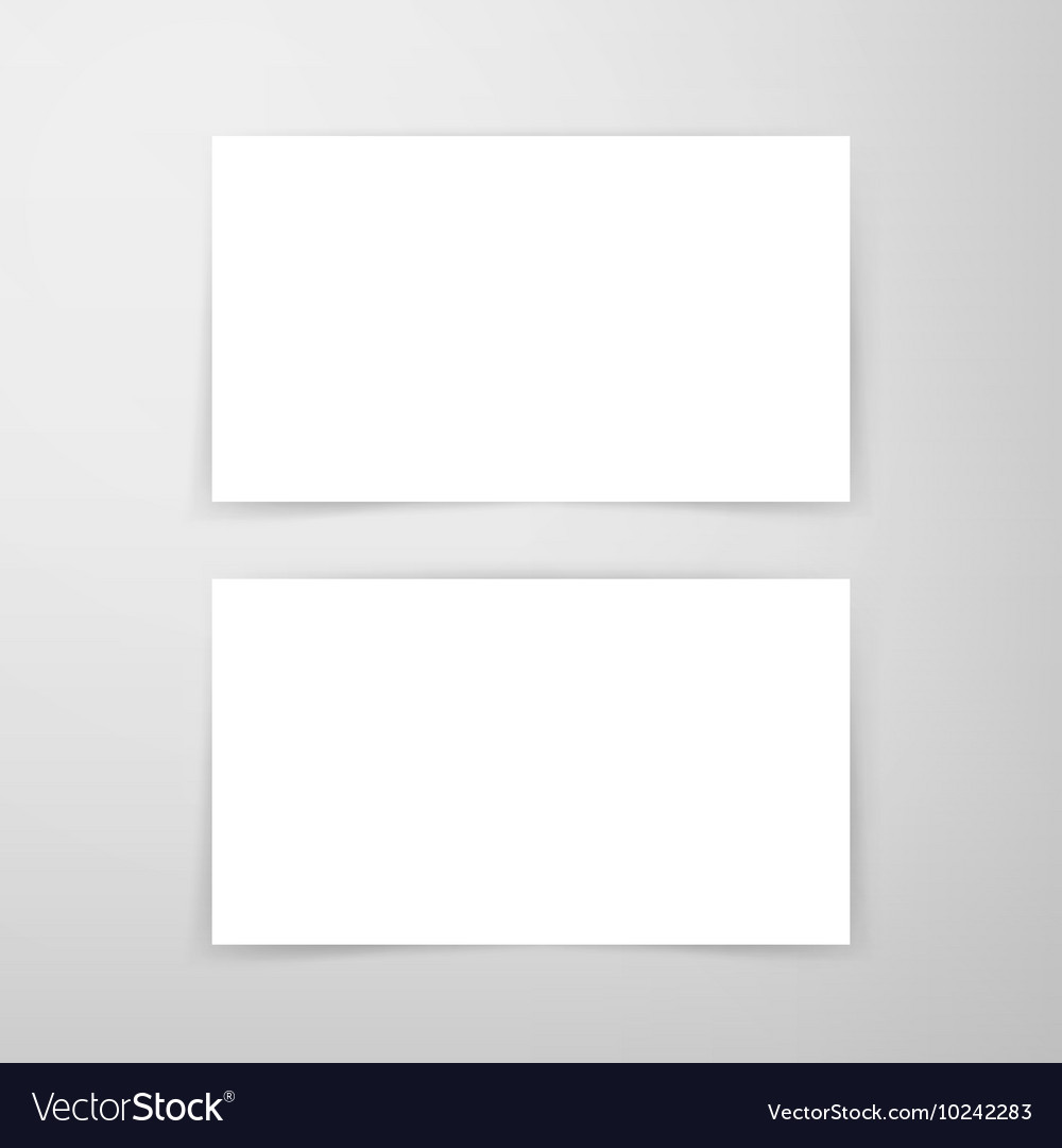 Blank business card mockup royalty free vector image blank business card mockup vector image colourmoves
