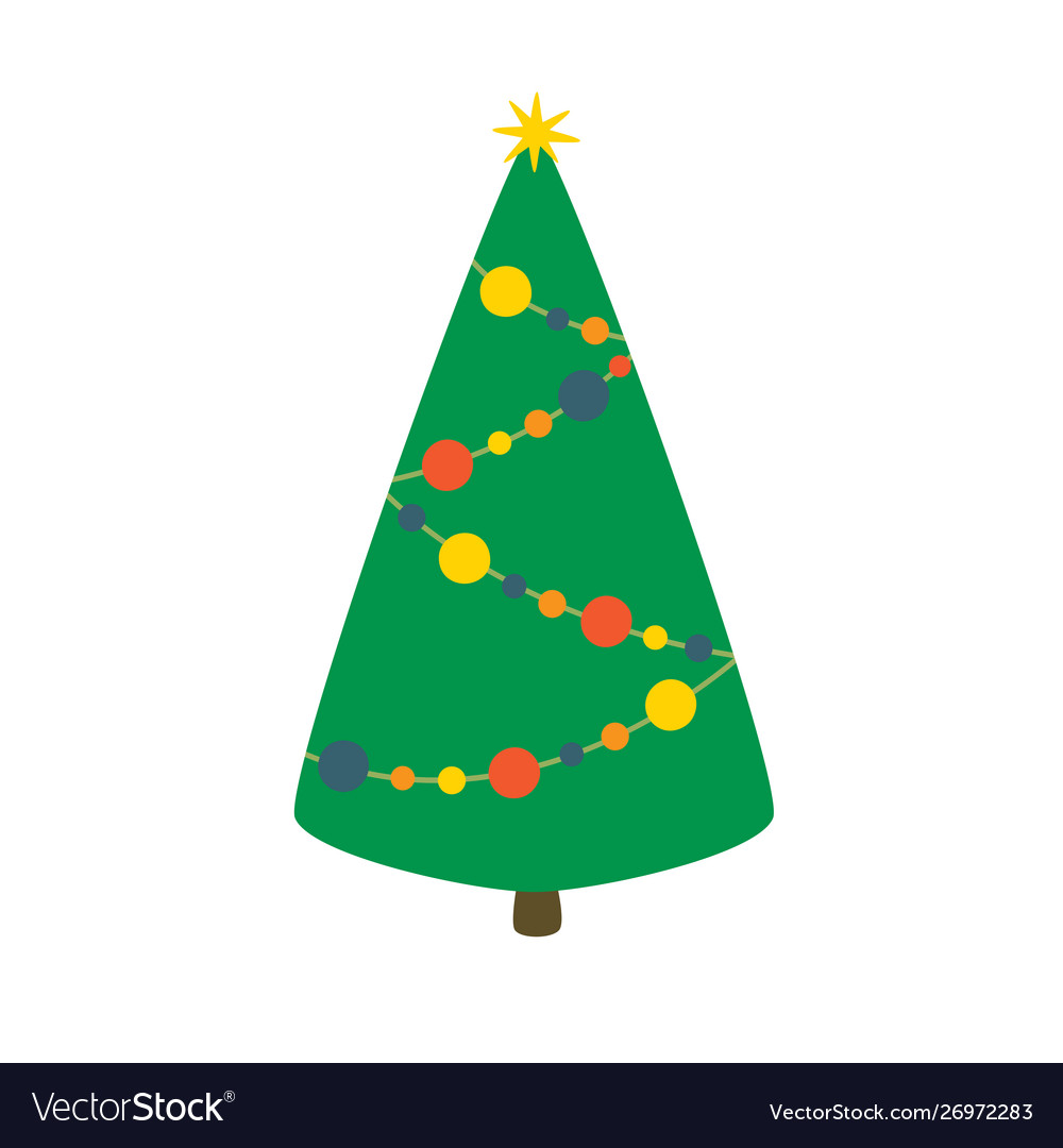 Christmas tree isolated on