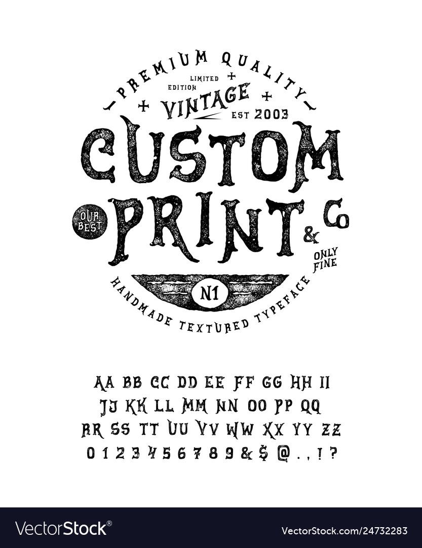 Font custom print