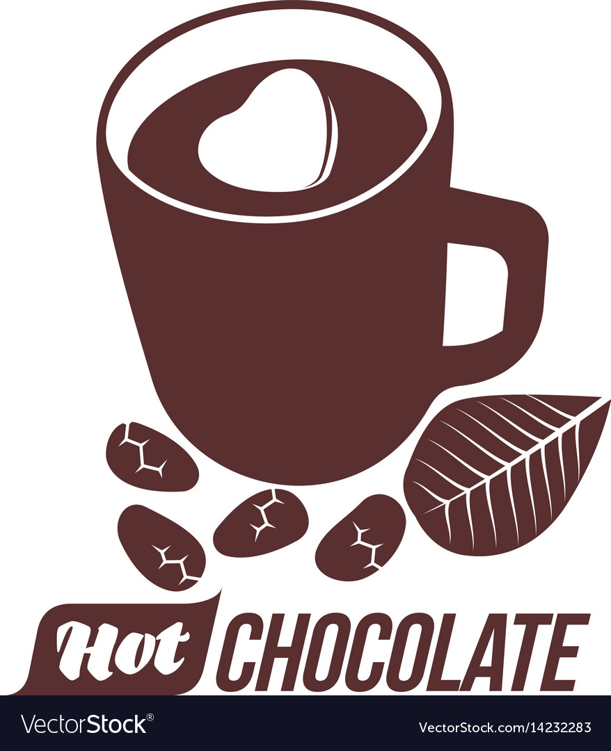 Hot Chocolate Logo Template Royalty Free Vector Image