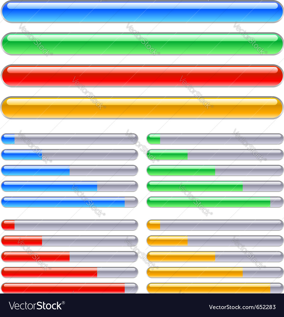 Loading progress bars vector image