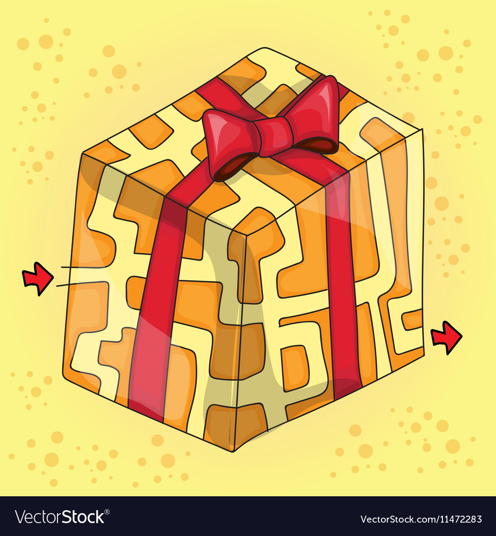 Maze game for children funny gift vector image