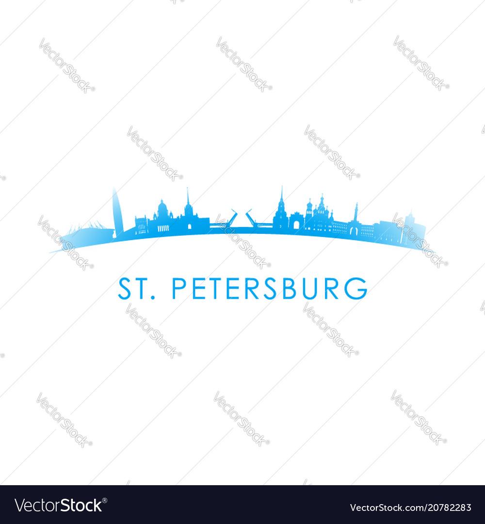 St petersburg skyline silhouette design