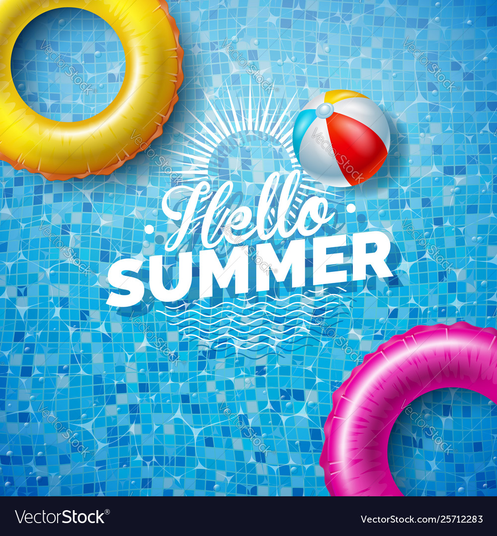 Summer with float on water in the