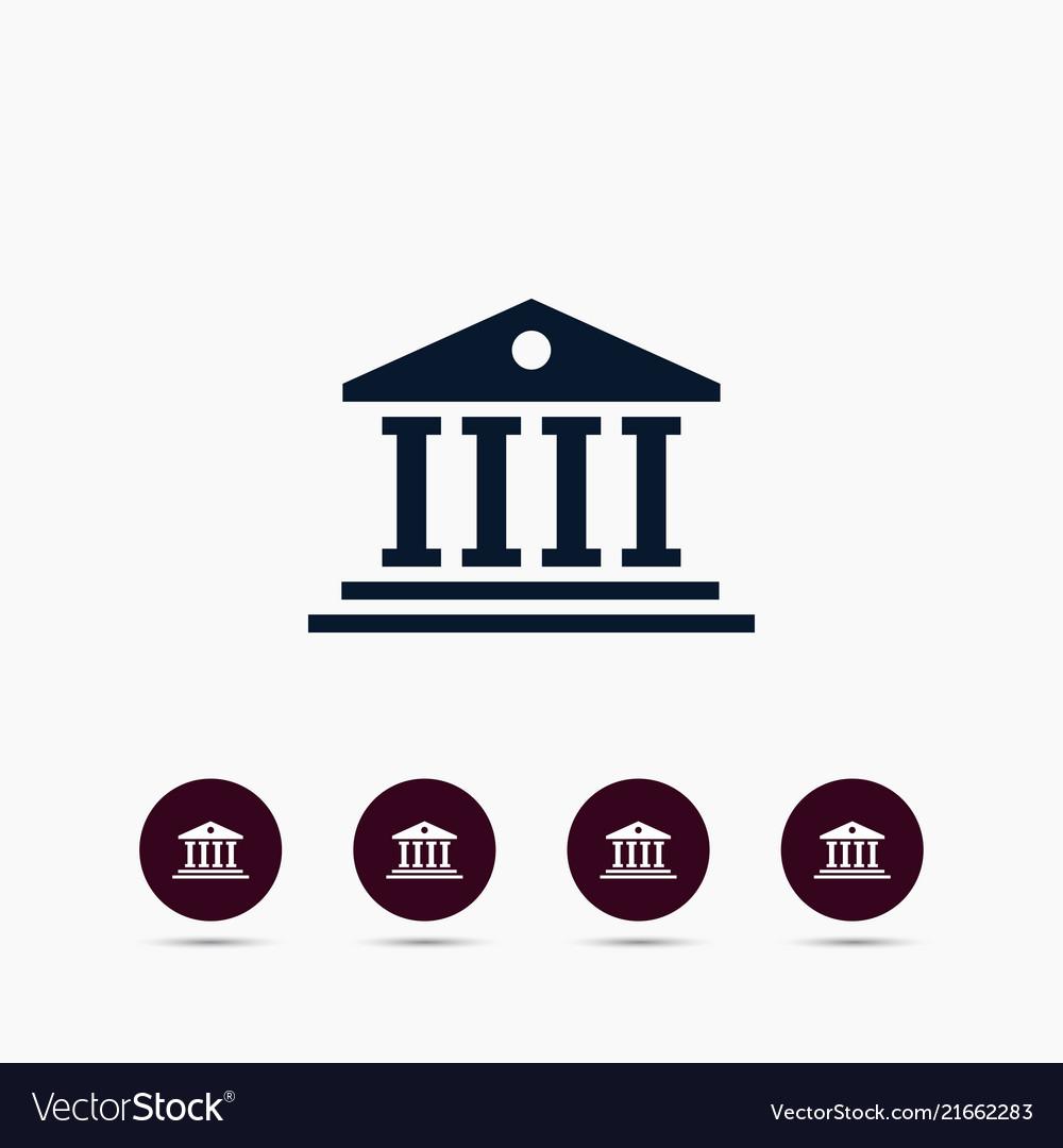 University icon simple college element symbol