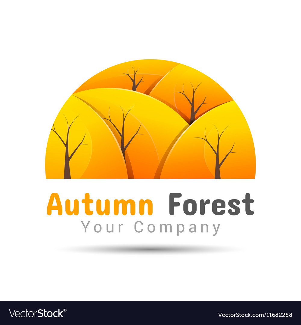 Autumn forest Volume Logo Colorful 3d Design