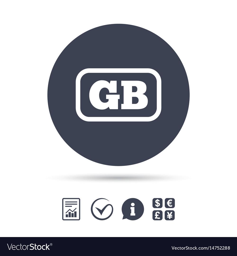 British language sign icon gb translation