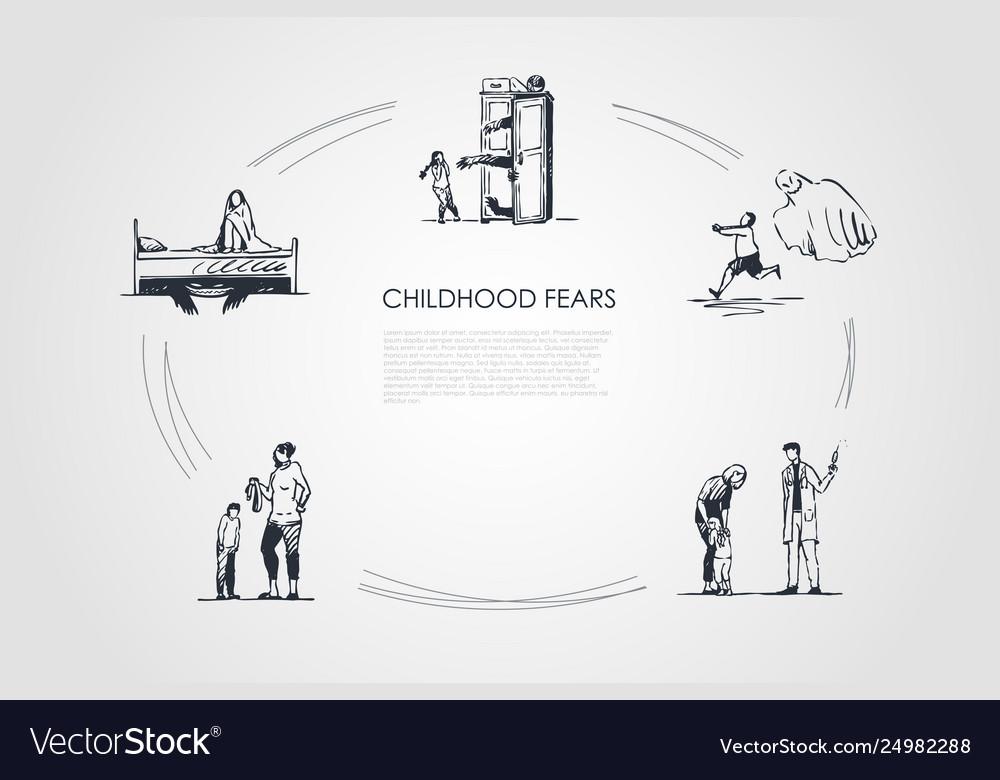 Childhood fears - children afraid ghosts