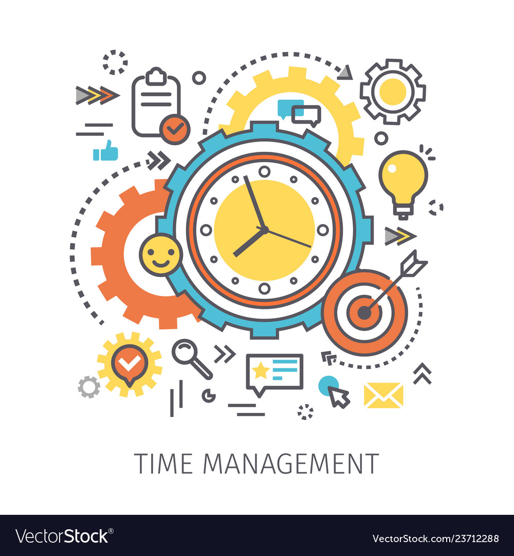 Concept Of Time Management Royalty Free Vector Image