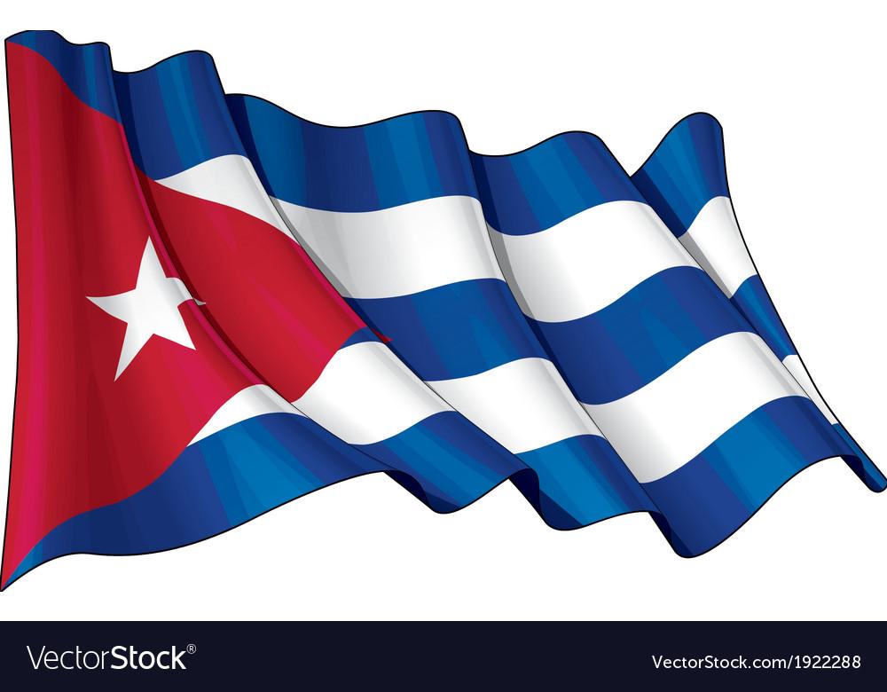 Cuba Flag Grunge vector image