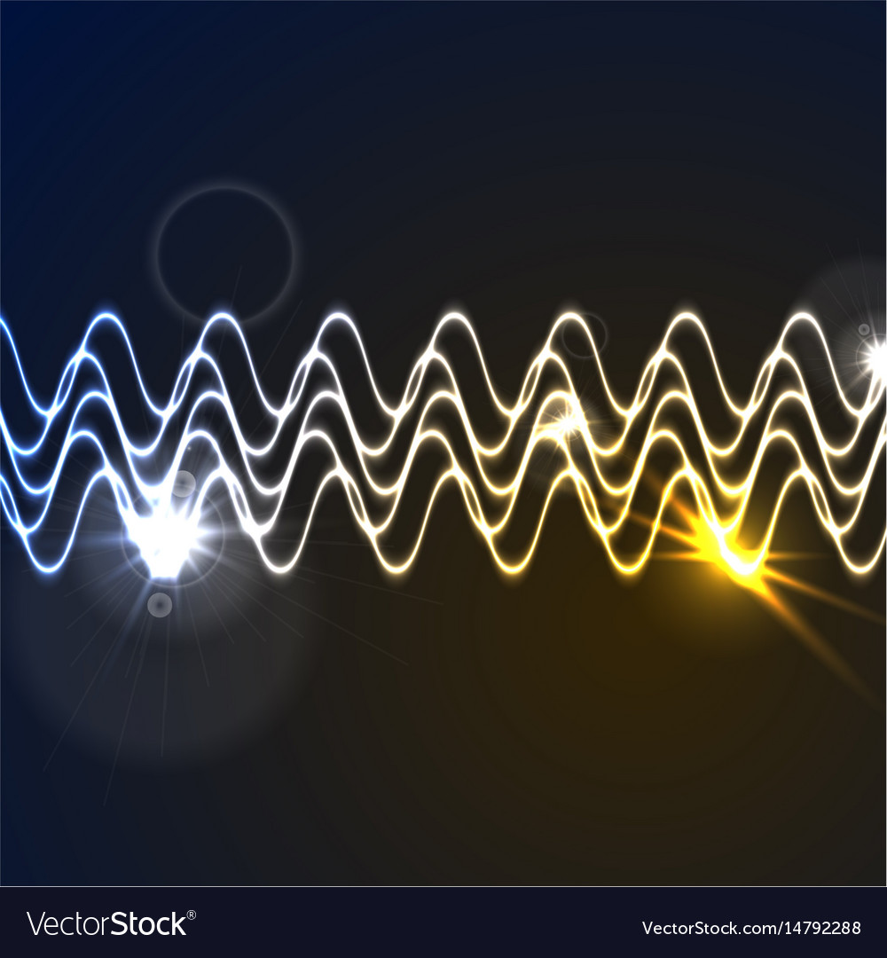 Glowing neon abstract waveform background