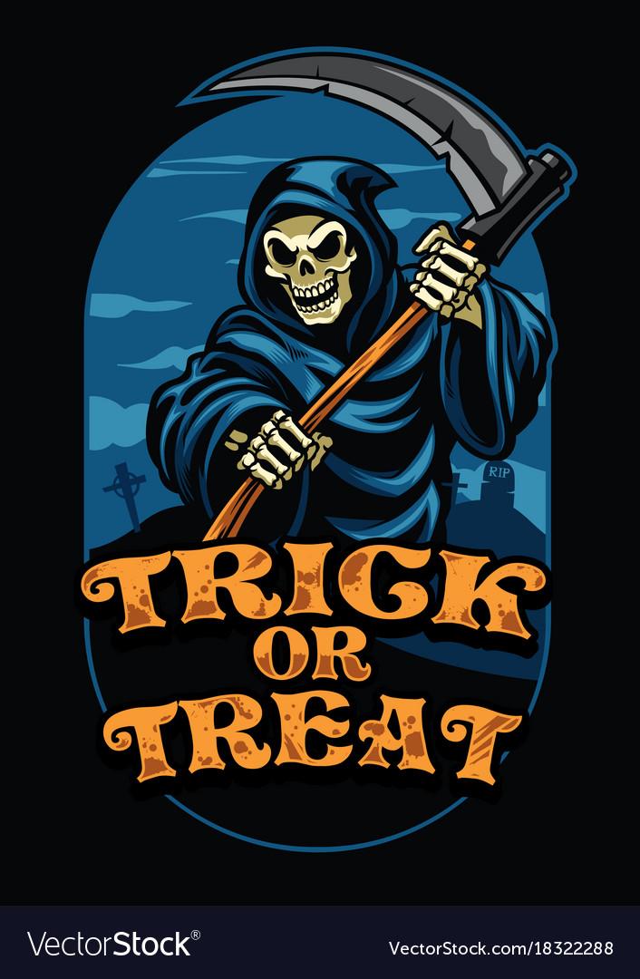 Halloween design of grim reaper