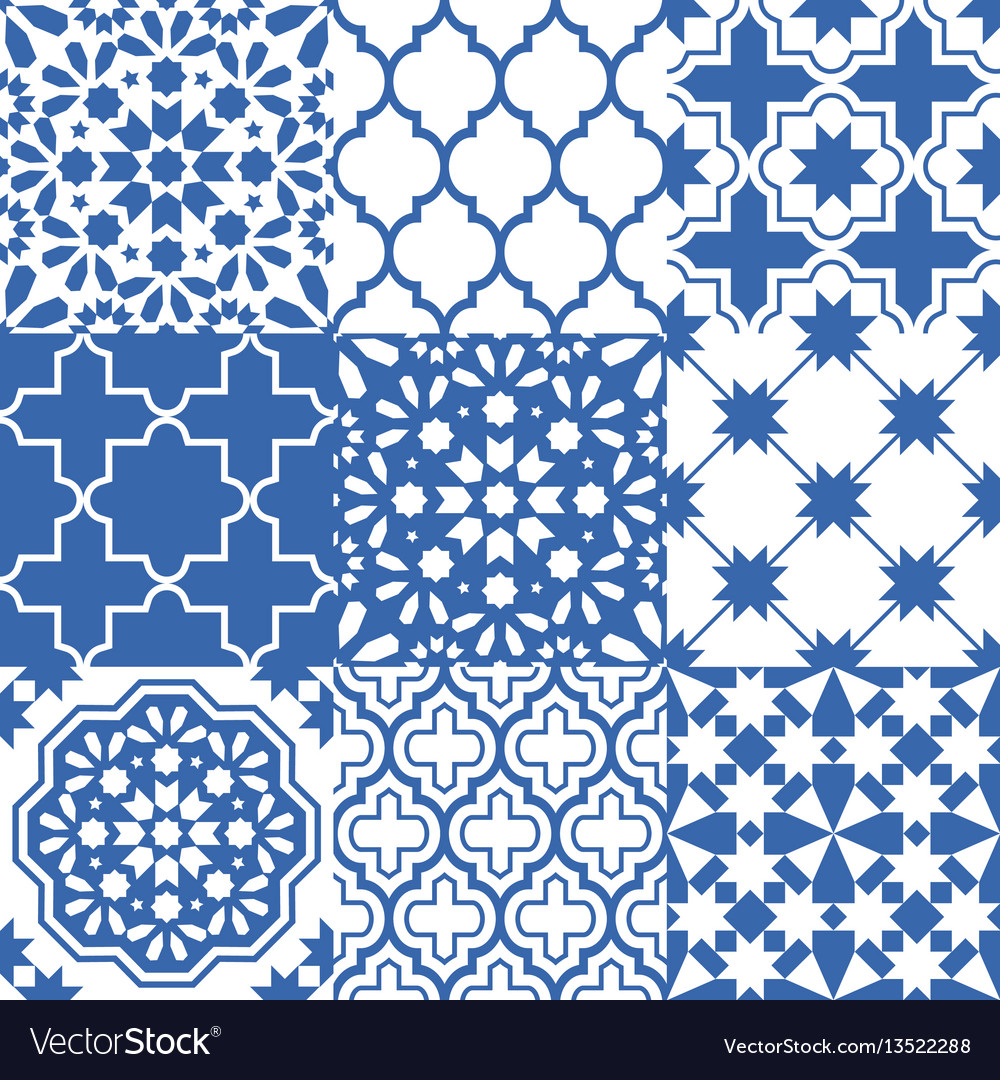 Seamless Navy Blue Pattern Vector Image