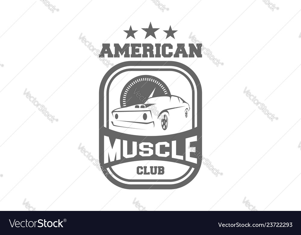 d1fd331d American muscle club Royalty Free Vector Image
