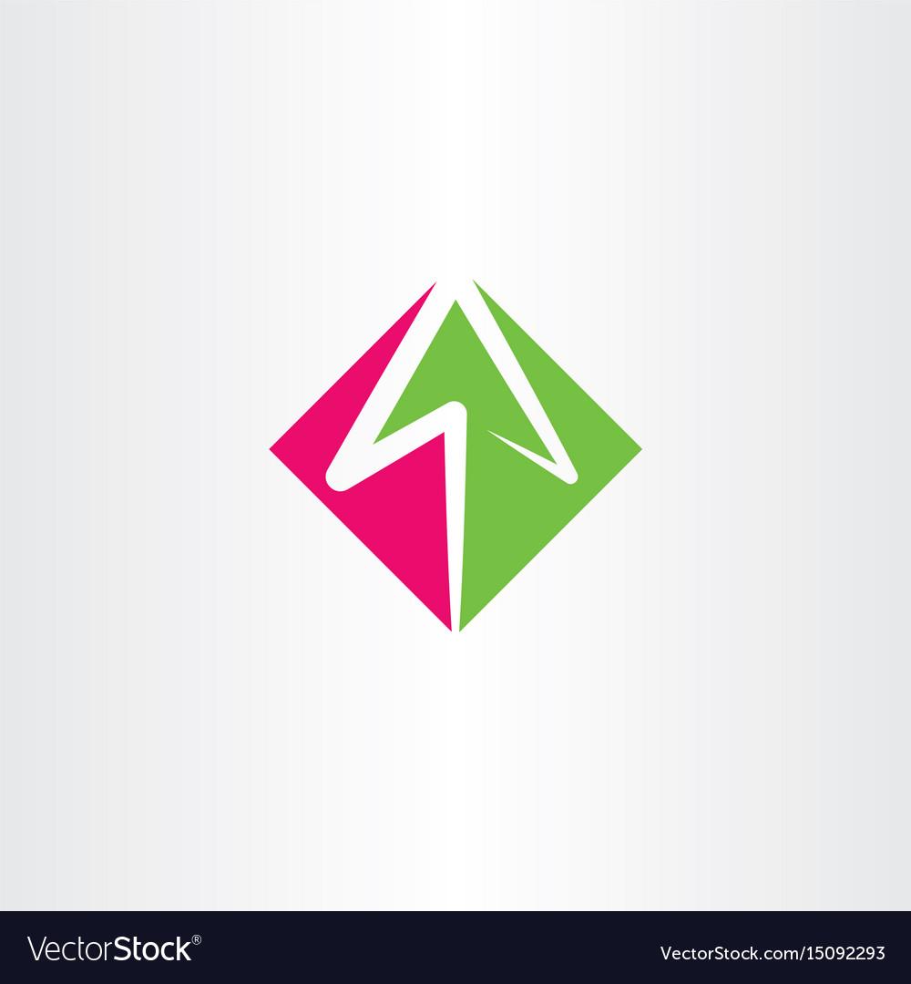 Arrow logo sign element symbol