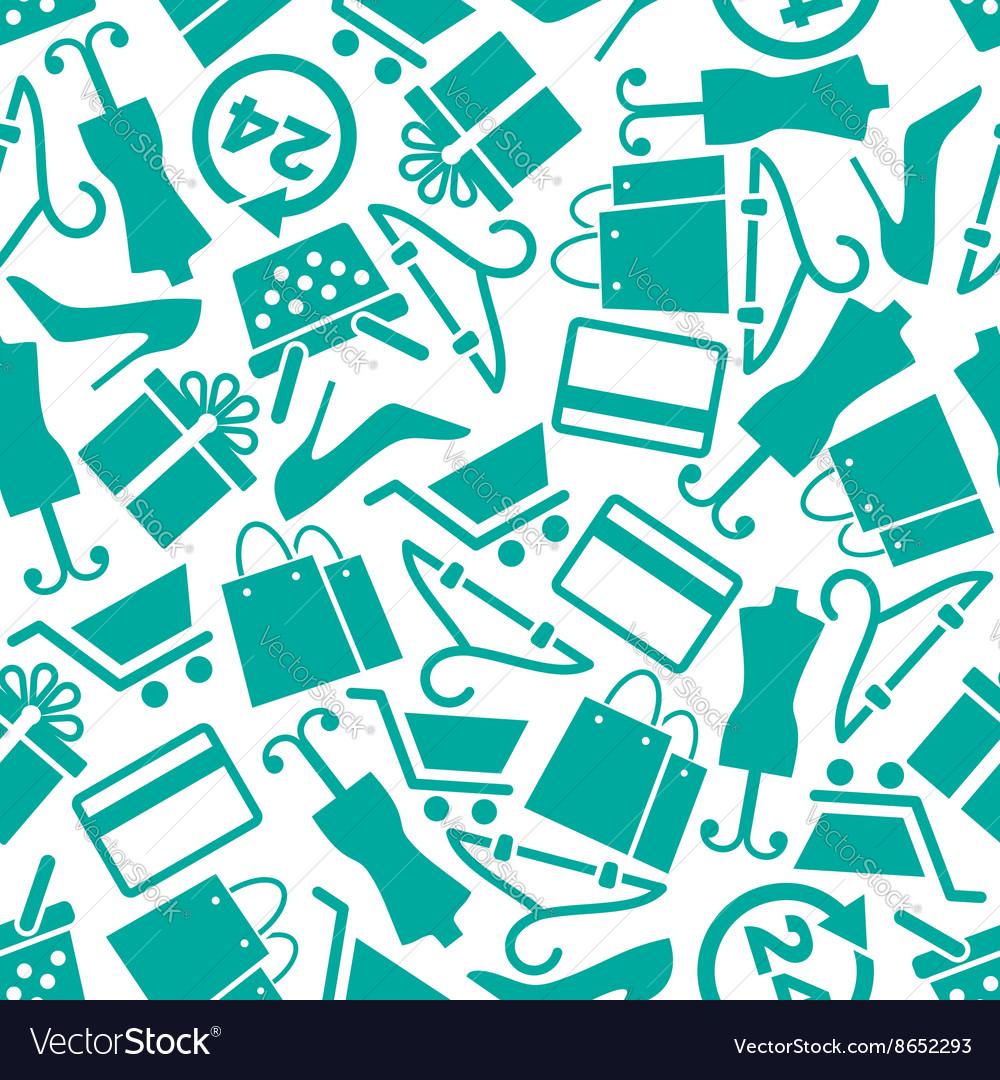Fashion and shopping seamless background pattern