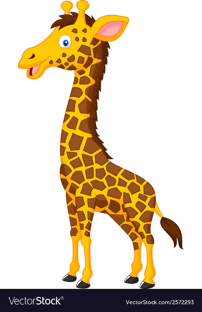 Giraffe cartoon Royalty Free Vector Image - VectorStock