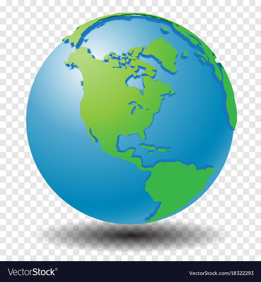 Globe Map Pictures.Globe With Wold Map On Transparency Grid America Vector Image