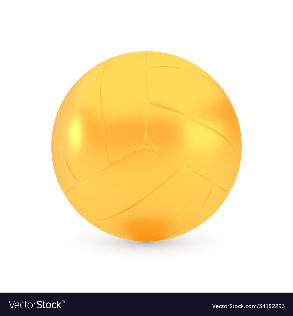 Golden volleyball award concept shiny realistic