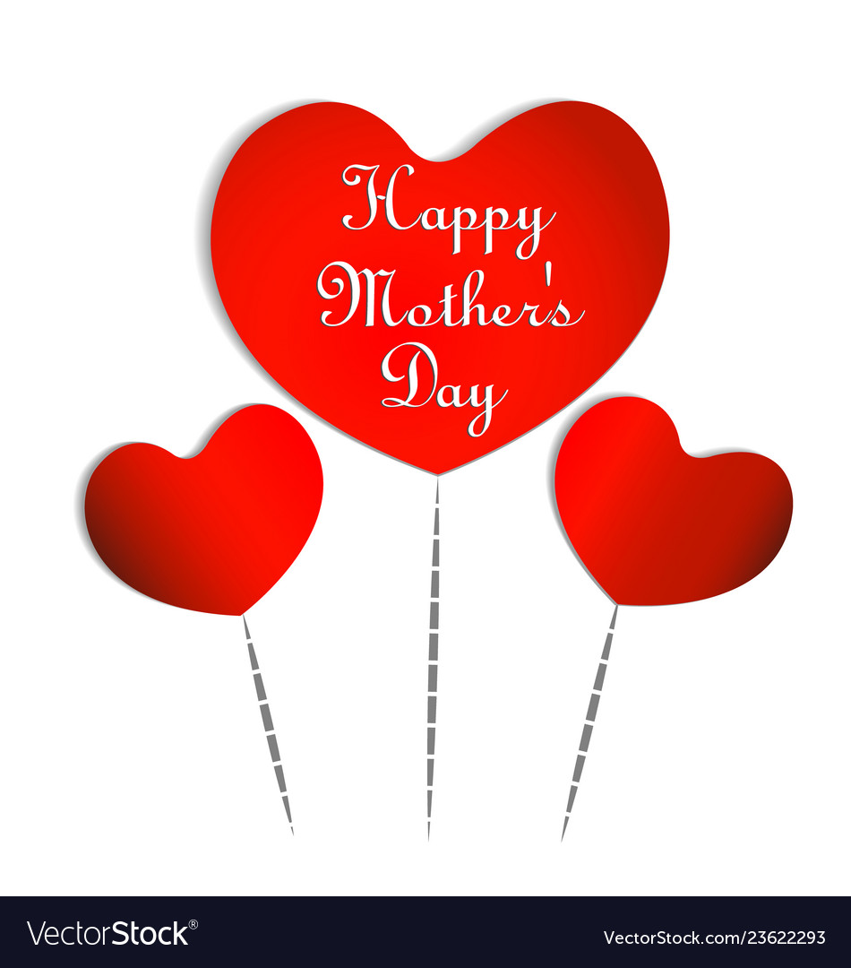 Hearts for happy mothers day