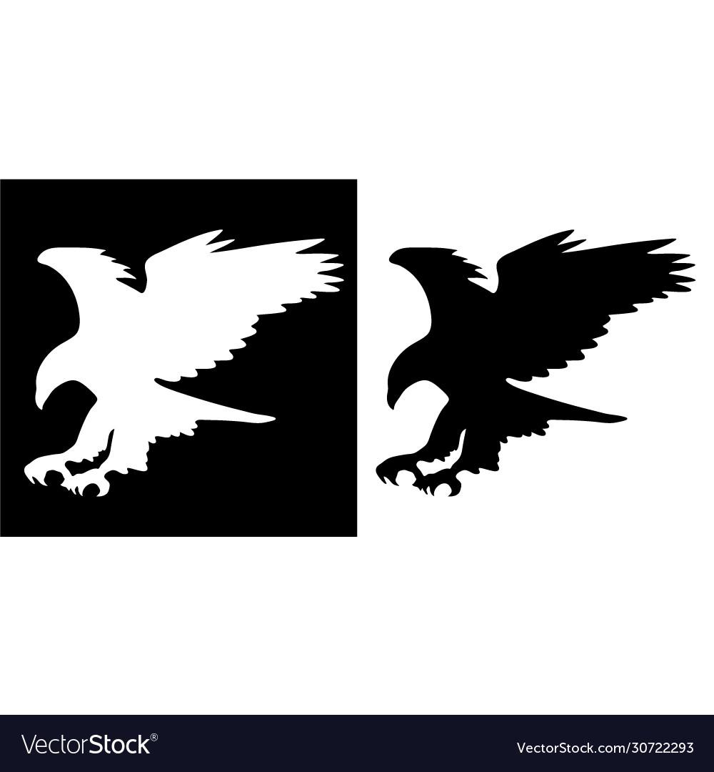Majestic eagle in flight silhouette