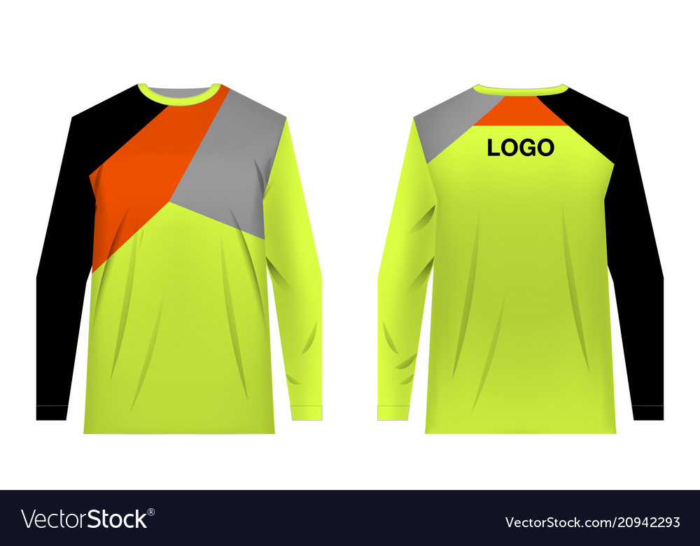 Mtb Jersey Templates Royalty Free Vector Image