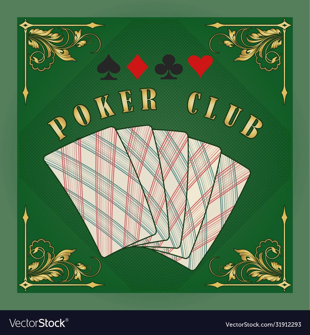 Poker club retro emblem
