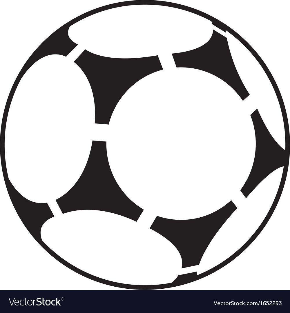 soccer ball royalty free vector image vectorstock rh vectorstock com soccer ball vector png soccer ball vector art