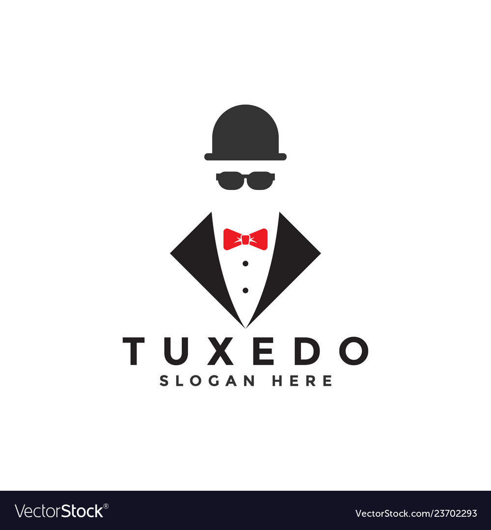 Tuxedo logo graphic design template