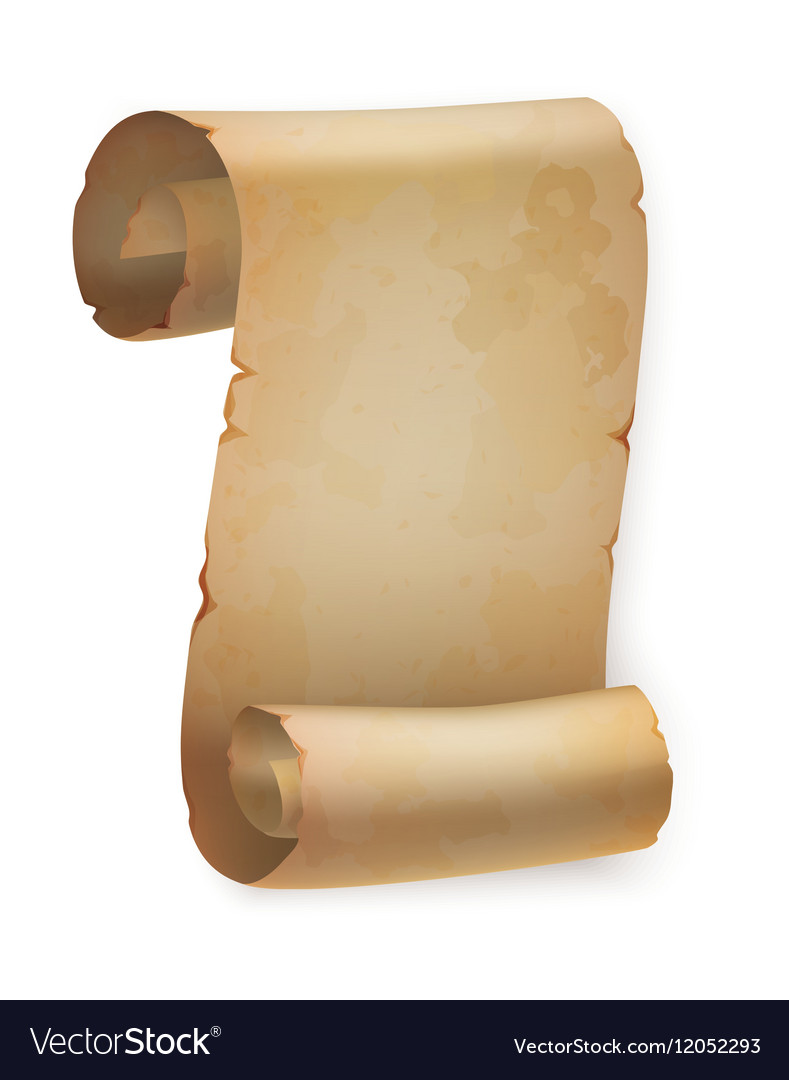 Vertical vintage paper roll or parchment scroll Vector Image  Old