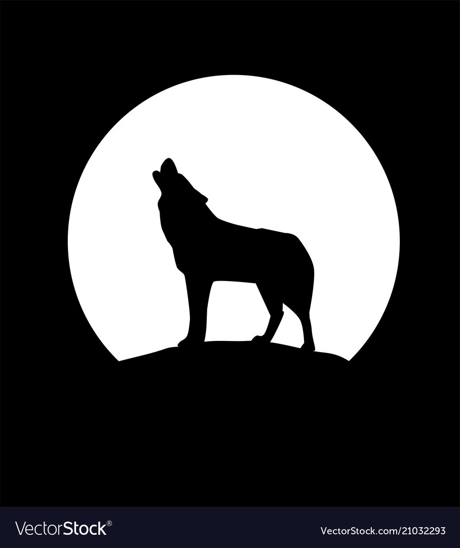 It is a graphic of Clean Wolf Silhouette Drawing