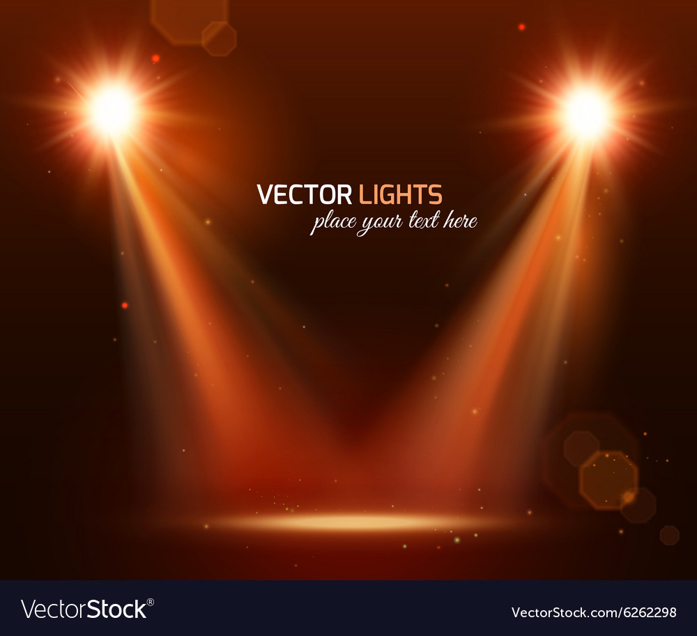 Abstract disco background with spot lights
