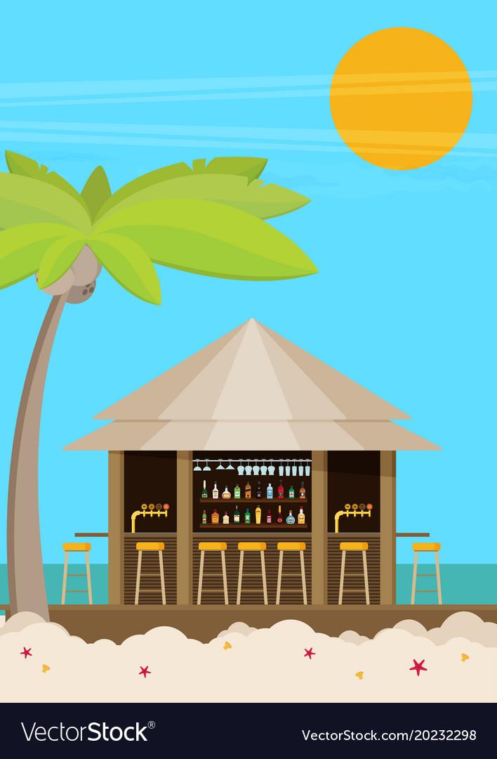 Beach bar flat