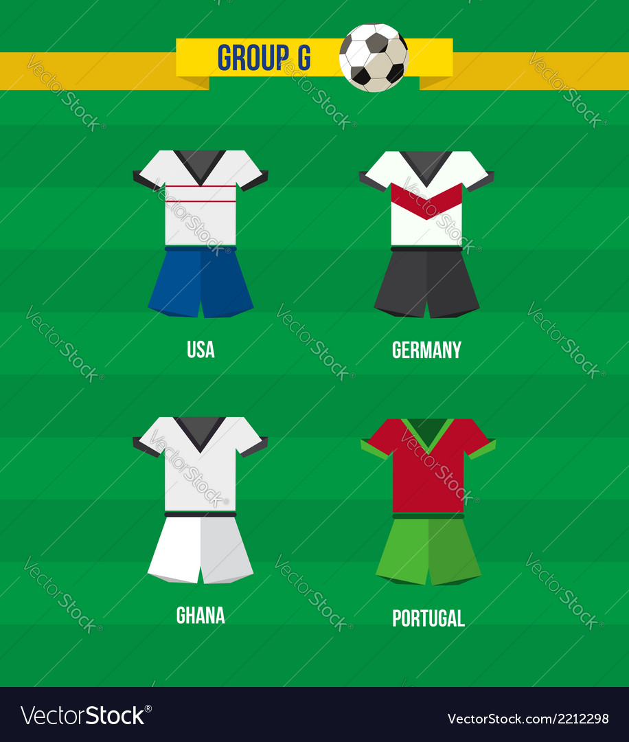 Brazil Soccer Championship 2014 Group G team vector image