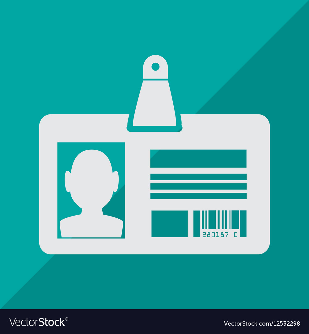 Card identification isolated icon