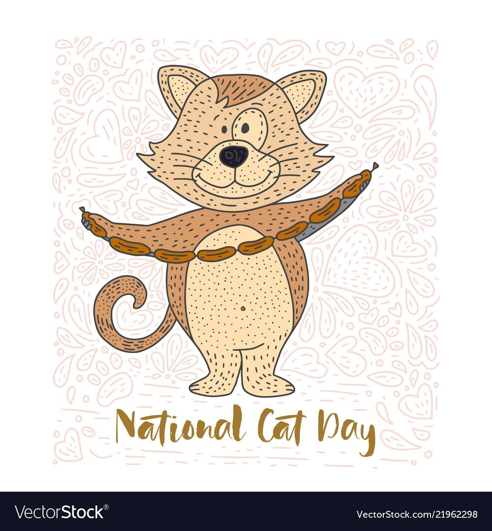 Cute of a doodle cat