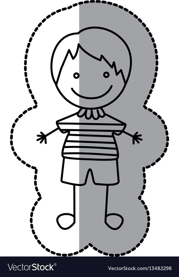 Figure nice boy icon