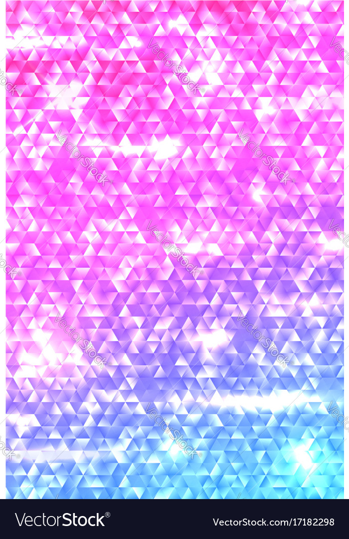 Glowing vertical gradient triangle background