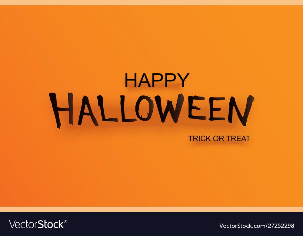 Halloween party invitation with text on orange