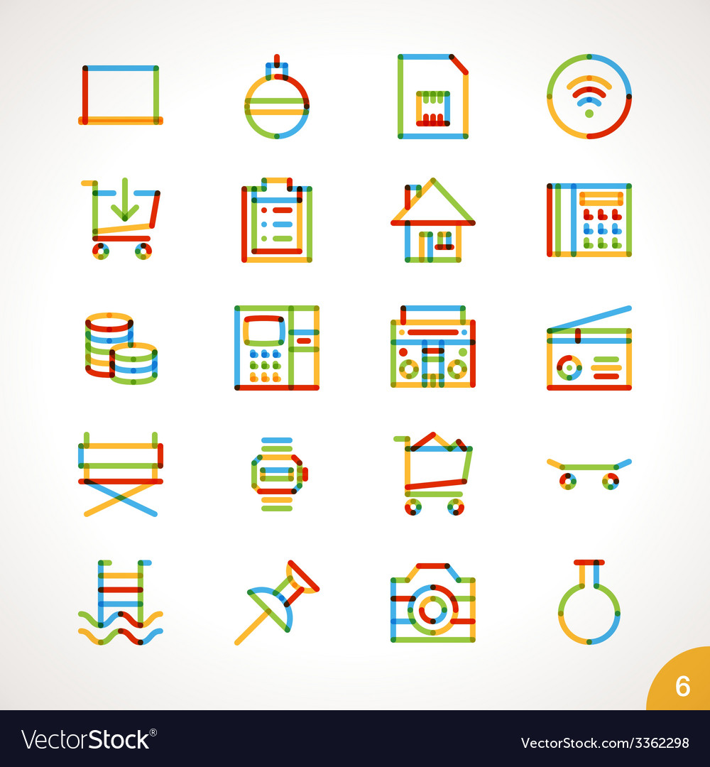 Highlighter Line Icons Set 6