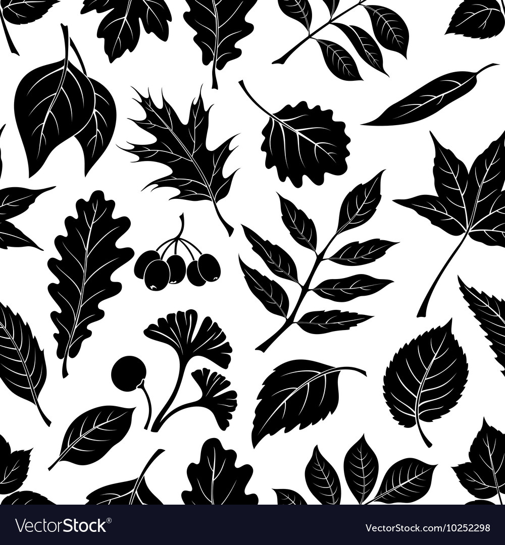 Leaves of Plants Pictogram Seamless