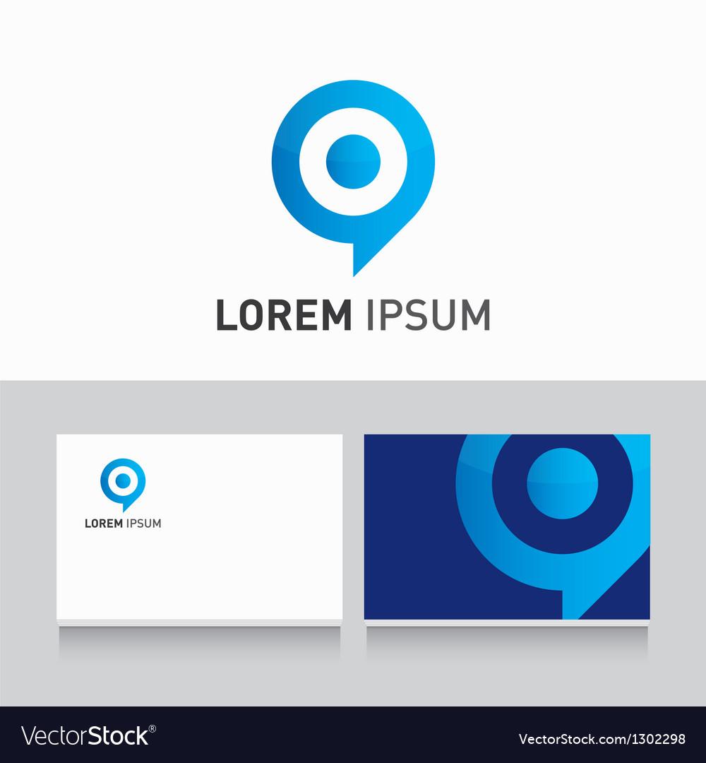 Logo company card target