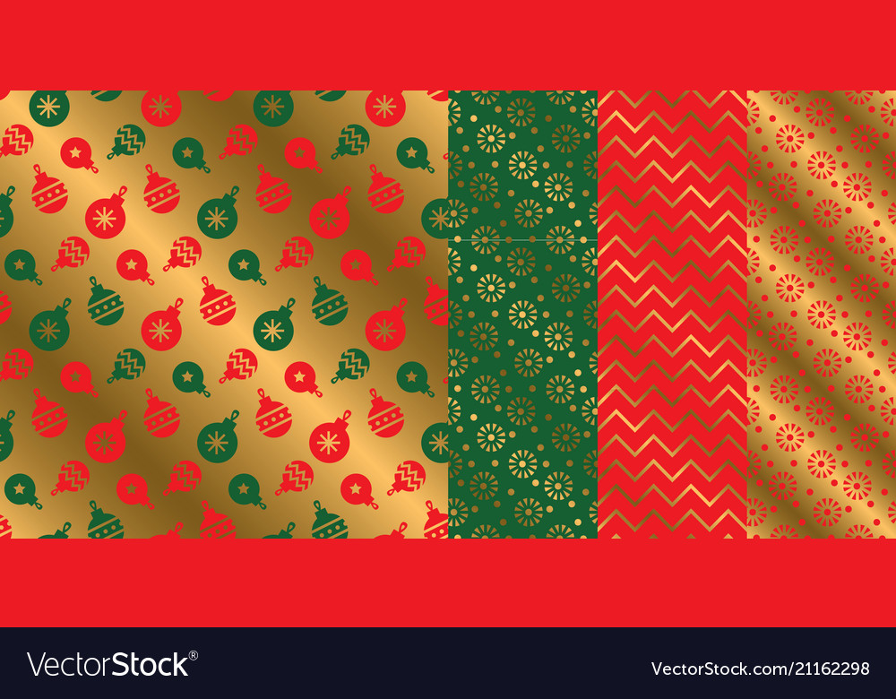 Simple geometric xmas repeatable pattern set